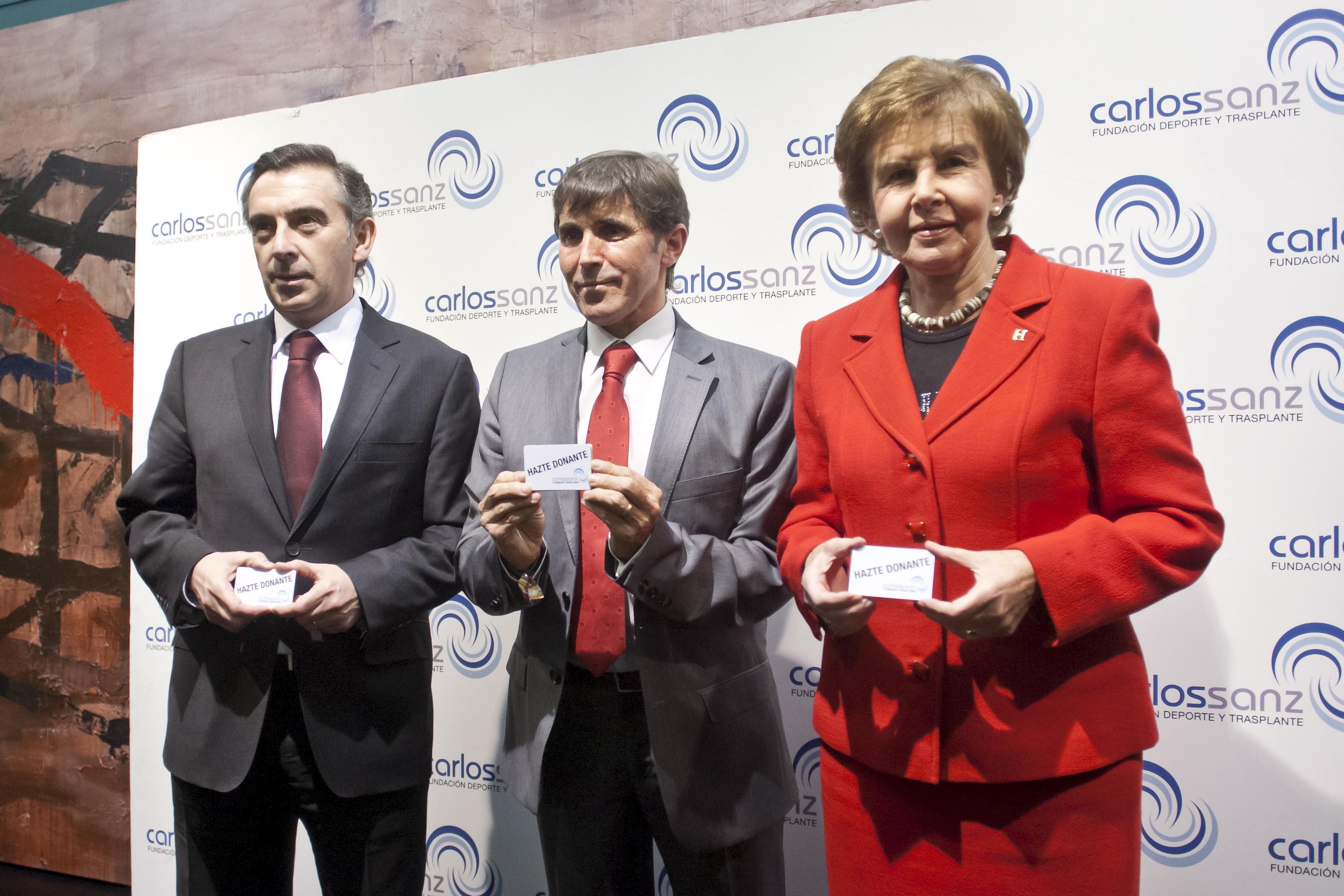 Pilar de Yarza en la entrega de premios de la Fundación Carlos Sanz.