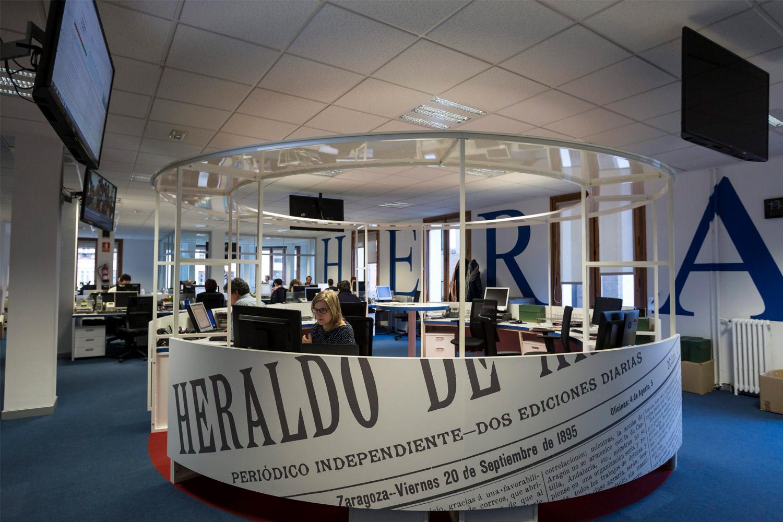 Redacción de Heraldo de Aragón en la actualidad.