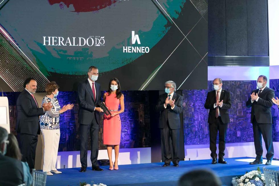 Sus Majestades destacan la defensa de la libertad y el compromiso  con los ciudadanos de HERALDO en su 125 aniversario