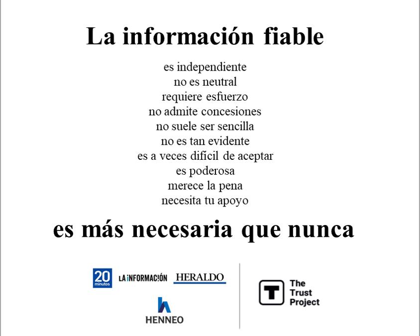 'Heraldo de Aragón', '20minutos' y 'La Información' obtienen un sello internacional que reconoce la información de calidad