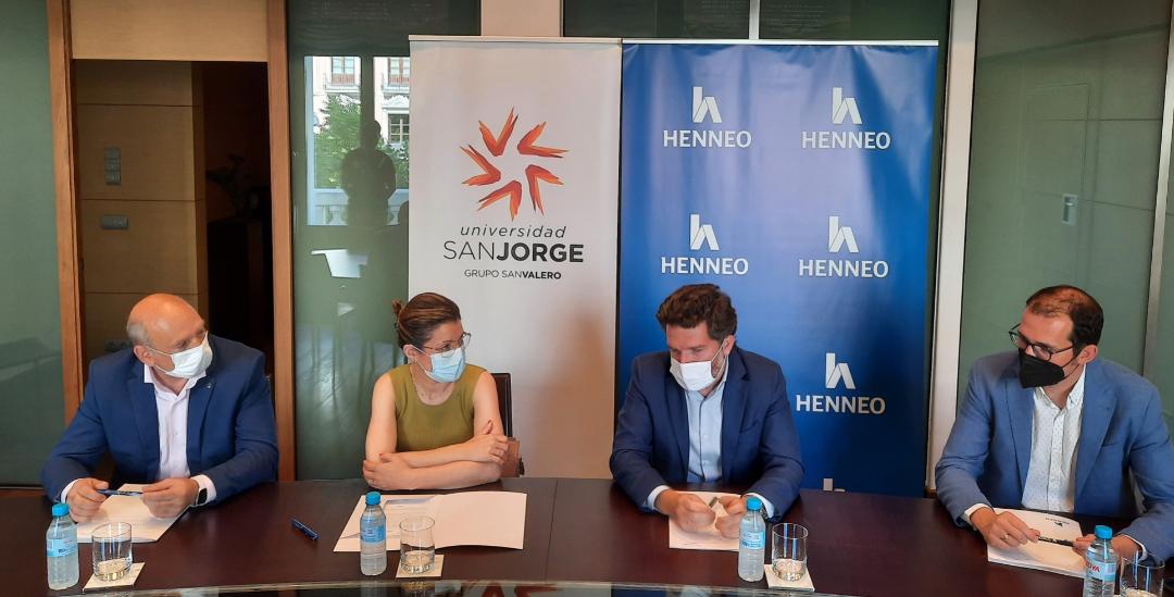 Henneo colaborará con la USJ en la formación de directivos y emprendedores de Aragón